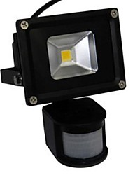 LED 10W Motion Sensor  Floodlight  Black Shell  Aluminum 220V