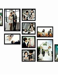 Natural Color Photo Frame Collection Set of 10
