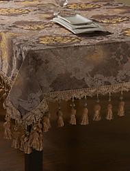 European Floral Gold Embroidery Table Cloth