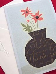 Weinlese-Vase Muster Light Blue Side Falten danken Ihnen,