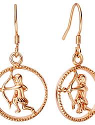 Moda prata e banhado a ouro com brinco de Sagitário Gota Mulheres (mais cores)