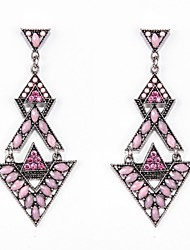 Drop Earrings Alloy Resin Rhinestone Simulated Diamond Light Pink Black/Gray Jewelry Wedding Party Daily Casual