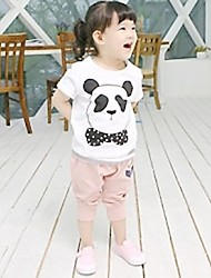 Girl's Cotton Clothing Set , Summer Sleeveless