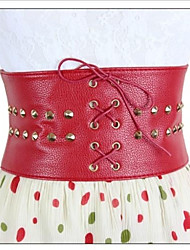 Women's Fashion Rivet Wide Belt