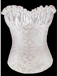 Feminino Branco Cremoso Lvory Renascimento Corset Top