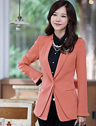 Femmes stand Solid Color Fittde Loisirs Blazer