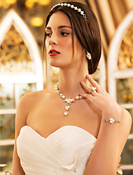 Women's Alloy Jewelry Set Rhinestone/Imitation Pearl