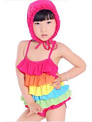 Maillots de bain coloré de fille (y compris Bonnet de bain)