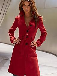 Women's Back Split Fit Long Trench Coat