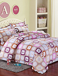 Manmei Brushed Print 4 Pcs Bedding(Duvet Cover*1,Sheet*1,And Pillowcase*2(SP28)