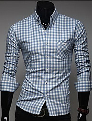 ZHELIN Men's Fashion Shirt Collar Check Random Color Of The Accessories Shirt
