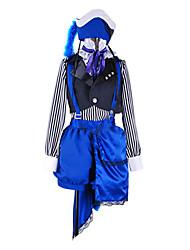 Inspiré par Black Butler Ciel Phantomhive Anime Costumes Cosplay Costumes Cosplay Mosaïque Blanc / Noir / BleuVeste / Chemisier /