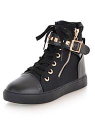 Zapatos de mujer - Plataforma - Comfort - Sneakers a la Moda - Casual / Deporte - Tela - Blanco / Negro / Azul