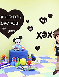 Blackboard sticker mural, amovible, coeur d'amour