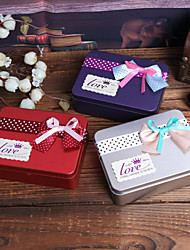6 Piece/Set Favor Holder - Cuboid Iron(nickel plated) Favor Boxes/Favor Tins and Pails Non-personalised