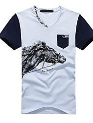 Herr Lin Herren Rundkragen Kurzschluss-T-Shirt