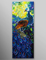 IARTS®Hand Painted Oil Painting Abstract The Peacock Spreads Its Tail with Stretched Frame Ready to Hang