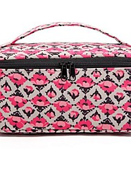 2PCS Portable Rose Quadrate&Briefcase Shaped Thicken Make up/Cosmetics Bag Set Cosmetics Storage