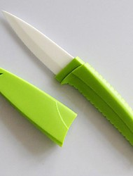 3 Inch Fruit / Vegetable Ceramic Knife with Cover