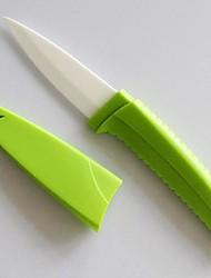 3 pulgadas de frutas / vegetales cuchillo de cerámica con tapa