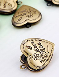 Vintage Bronze Heart Charms Lockets Pendants