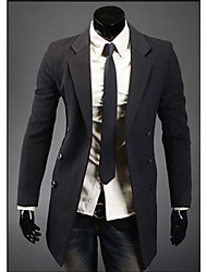 Men's Double-Breasted Warm Trench Coat