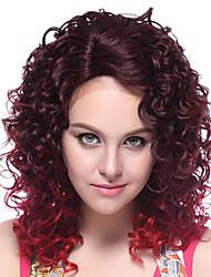 100% Kanekalon Synthetic Charming Sexy Curly Medium Mixed-color Wig