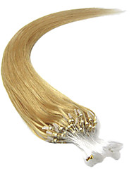 16inch 1pcs boucles micro anneaux perles basculé extensions de cheveux droites plus de lumière couleurs 100s / 0,4 g pake / s