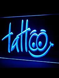 Tattoo Shop Happy Eye Kind Green Blue Red White Orange Purple Yellow Advertising LED Light Sign