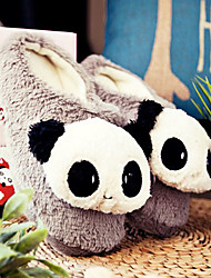 Netter grauer Lächeln Panda Wolle Herren Slipper Slide