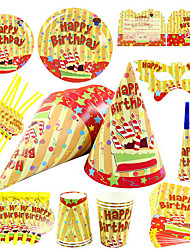 """Wonderful Time"" Birthday Party Supplies - Lot de 84 pièces"