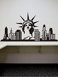 Architecture USA Statue of Liberty Decorative Wall Stickers