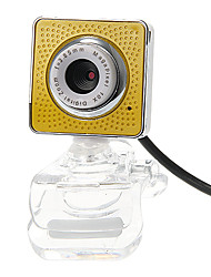 Praça Shaped desktop 8 Megapixel Webcam com microfone