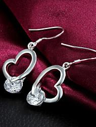 Vente chaude de mode de qualité d'alliage Boucles d'oreilles pendantes femmes Slivery (1 paire)