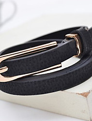 Women PU Skinny Belt,Casual