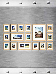 Frame Collection Natural Color Photo Wall Set di 16