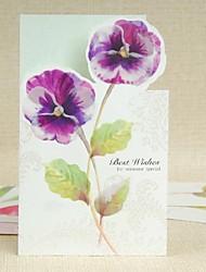 Butterfly Orchid Pattern ZijKaart Fold begroeting voor Moederdag