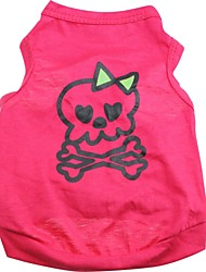 Cat / Dog Costume / Shirt / T-Shirt / Outfits Rose Dog Clothes Summer Skulls / Hearts Cosplay / Halloween