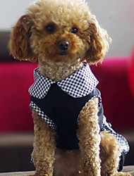 Dog Dress Black Dog Clothes Spring/Fall Polka Dots