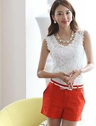 Women's Sleeveless Lace Vest Shirts