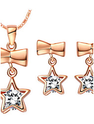 Star Gold Silver Plated (Necklaces&Earrings) Wedding Jewelry Sets