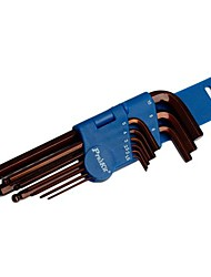 Pro′sKit 8PK-028  9Pcs Ball-Point Hex Key Set (1.5,2,2.5,3,4,5,6,8,10mm)