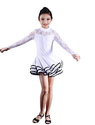 Dancewear Kids' Latin Dance Spandex Lace Stitching Ruffle Dress(More Colors)