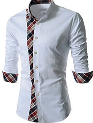 Herrenmode Plaid Spleißen Shirts