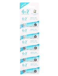 LR736 AG3/LR41/392/192 1.5V Super Alkaline Button Cell Batteries (10 PCS)