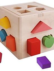 Jouets bébé éducatifs en bois coloré Forme Bloc Box