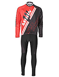 Uomo MOON Lycra + Fleece antivento manica lunga Cycling Jersey