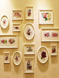 White Photo Wall Frame Collection Set of 14