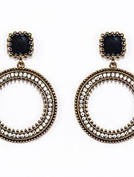 Earring Drop Earrings Jewelry Women Wedding / Party / Daily / Casual / Sports Alloy / Rhinestone / Enamel