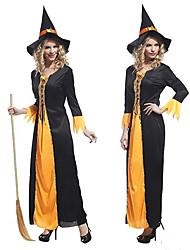 gothic delle donne del vestito della strega organza halloween costume
